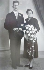 Het bruidspaar Johan Epko Lesterhuis en Rikkerdina Ritsema.