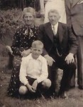 Simon Riepma met zijn ouders