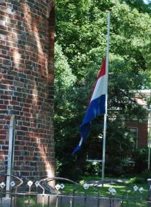 vlag halfstok dag van de rouw