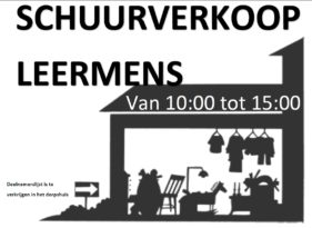 schuurverkoop Leermens 9 september