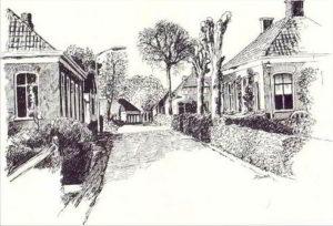 tekening dorpstraat