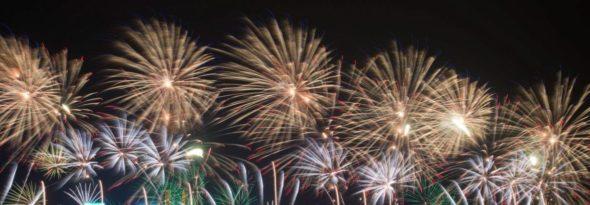 feest op het plein - vuurwerk