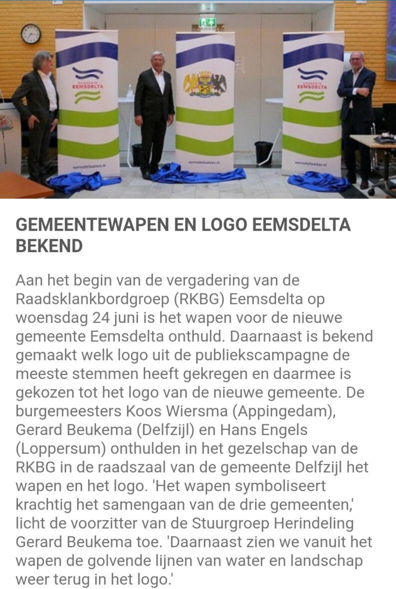 Eemsdelta logo en gemeentewapen