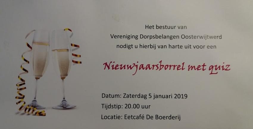 uitnodiging nieuwjaarsborrel